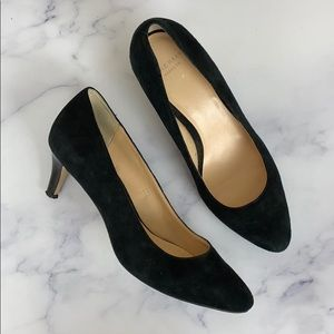Cole Haan Grand.Os Black Suede Pumps 6